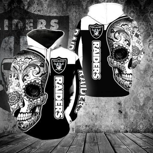 Sugar Skull 3D All Over Printed Hoodie - mytea