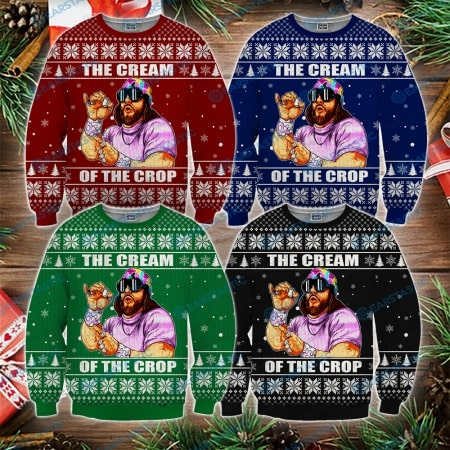 Macho man randy savage the cream of the crop ugly christmas sweater - maria