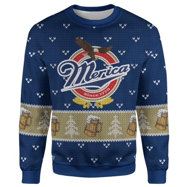 Merica since 1776 christmas sweater - maria
