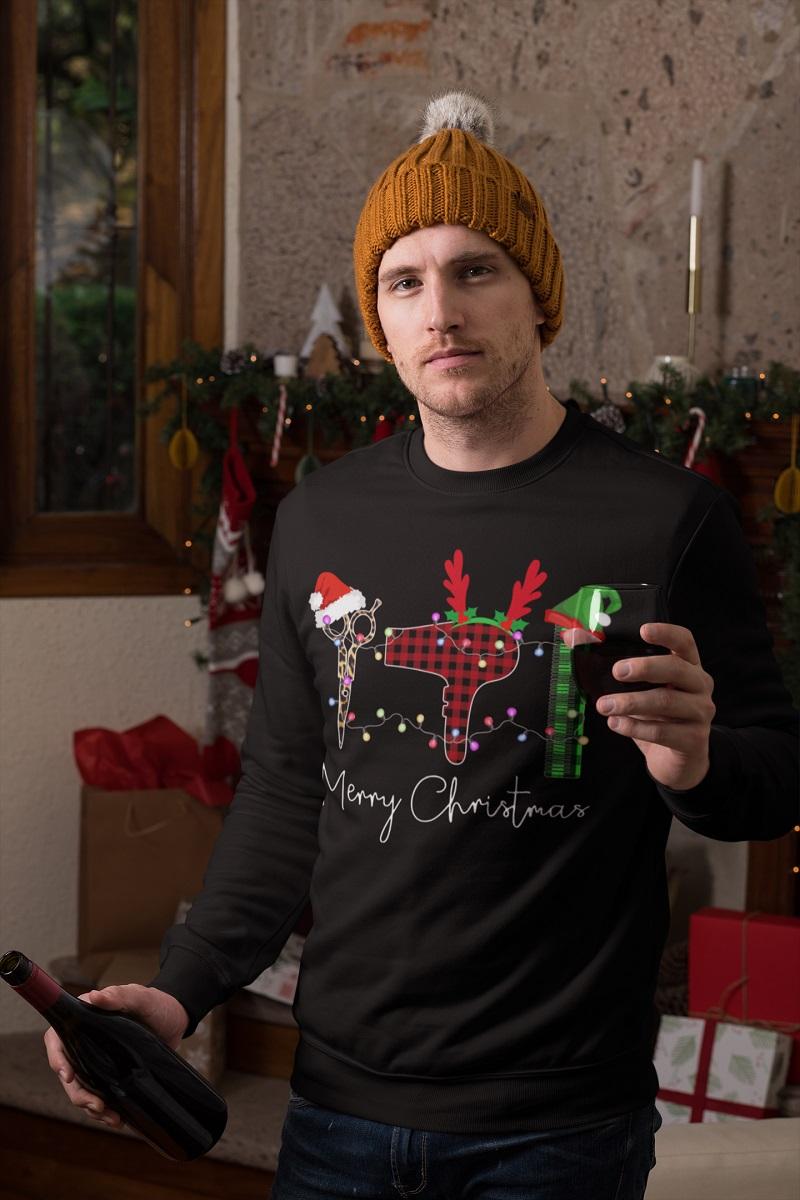 Merry Christmas at the hairdressers santa shirt, hoodie, tank top - tml