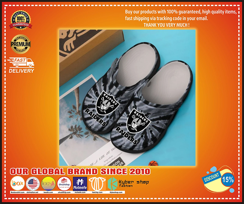 Oakland Raiders crocband croc shoes - LIMITED EDITION