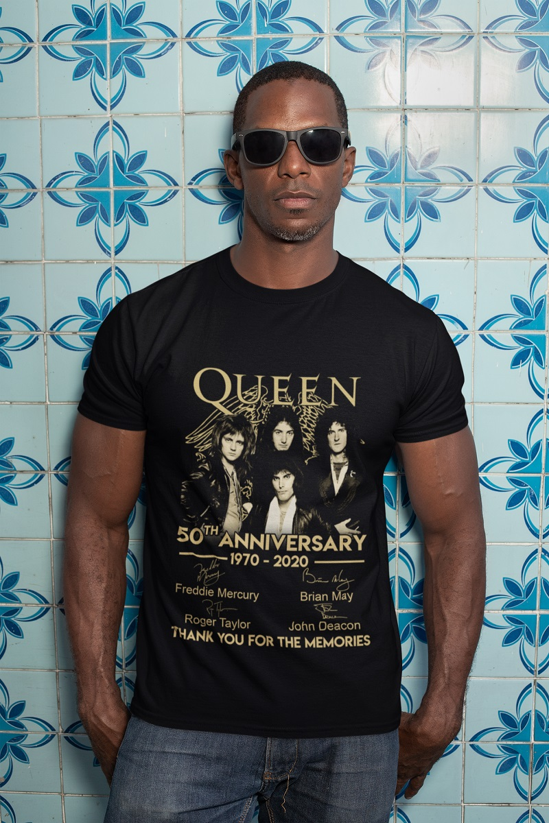 Queen 50th anniversary thank you for the memories shirt, hoodie, tank top - pdn
