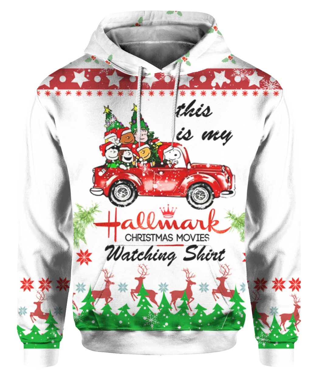 Snoopy this is my hallmark christmas movie watching holiday sweater - maria