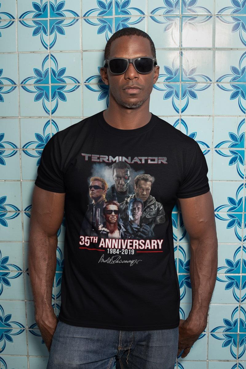 Terminator 35th anniversary 1984 2019 signature shirt, hoodie, tank top - pdn