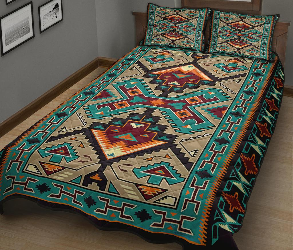 Blue south west native american quilt - maria