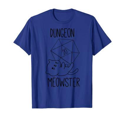Dungeon Meowster, Nerdy Kitty Kawaii Cat D20 RPG Gamer Gift shirt