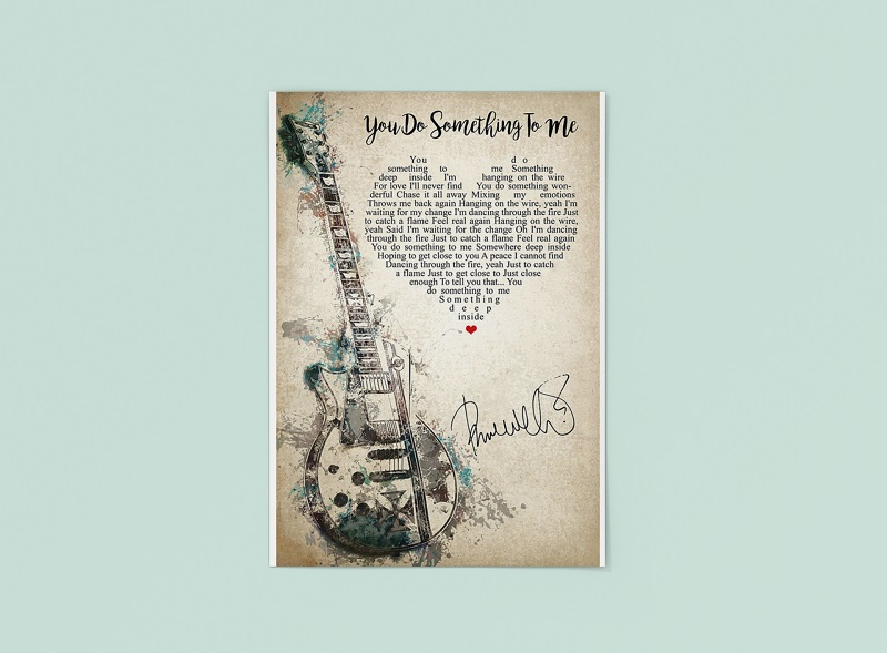 Guitar you do something to me poster - pdn