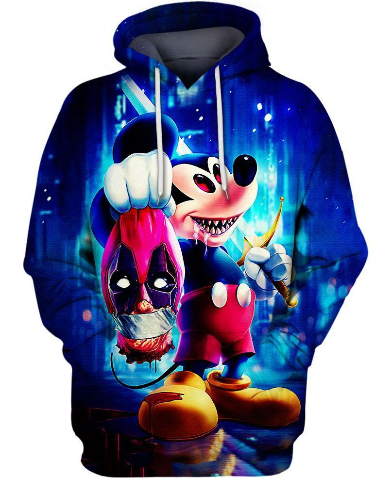 Halloween evil mickey mouse 3d hoodie - maria