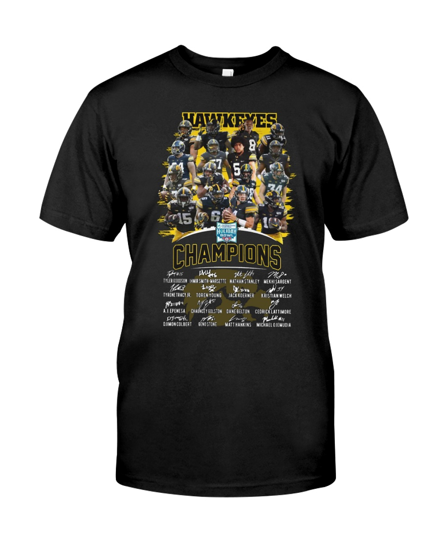 Hawkeyes holiday bowl champions signatures shirt, hoodie, tank top - tml