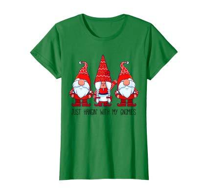Just Hangin' With My Gnomies Cute Christmas Gnomy Women women shirt