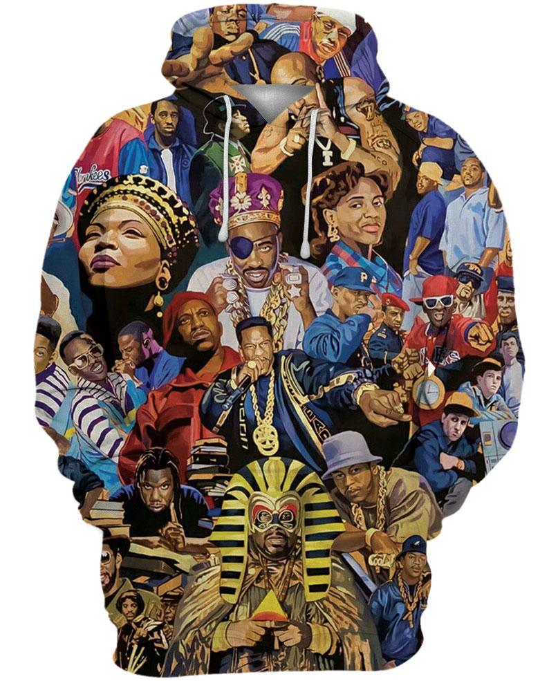 Legends of hiphop full printing shirt - maria