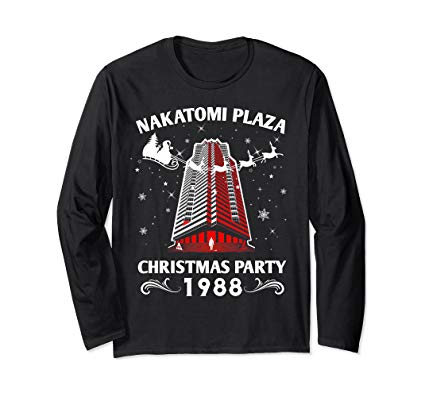 Nakatomi Plaza Christmas Party 1988 Men Boy Culture long sleeved