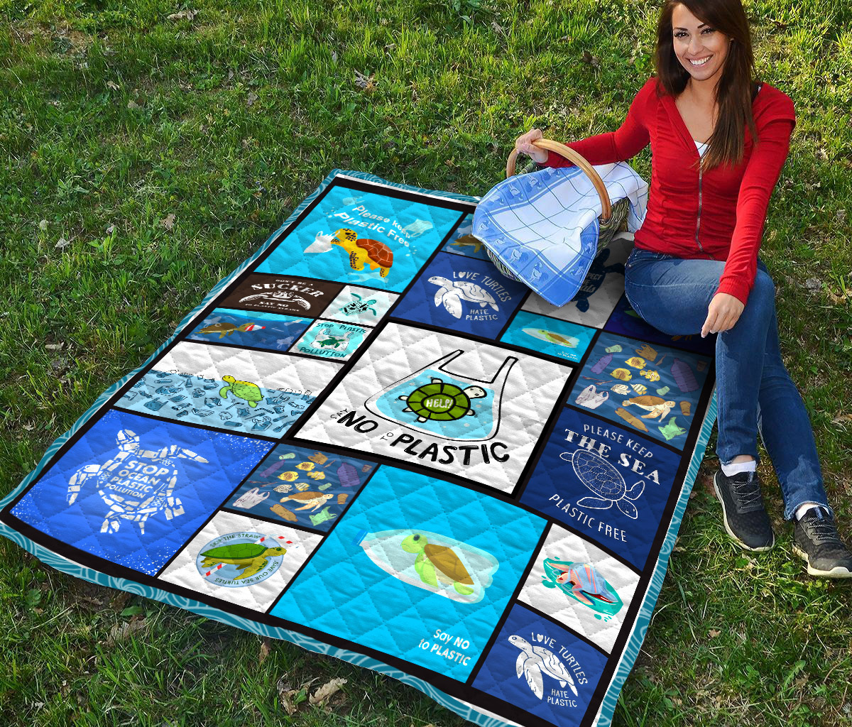 No plastic save turtles quilt - maria