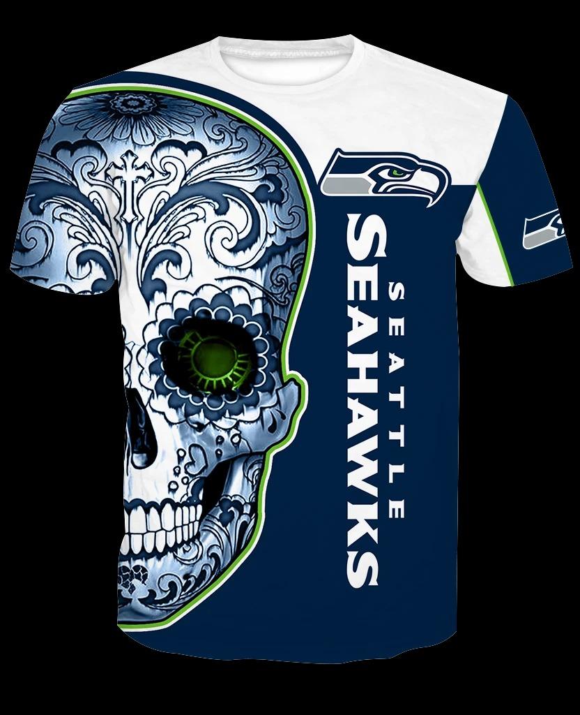 SS skull 3d full over print shirt - LIMITED BBS