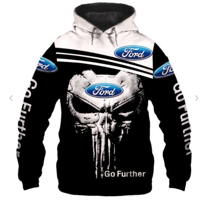 Skull Ford over print hoodie - LIMITED BBS