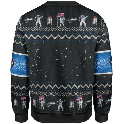 Trump Maga Space Force Christmas Sweater - hothot 031219-2