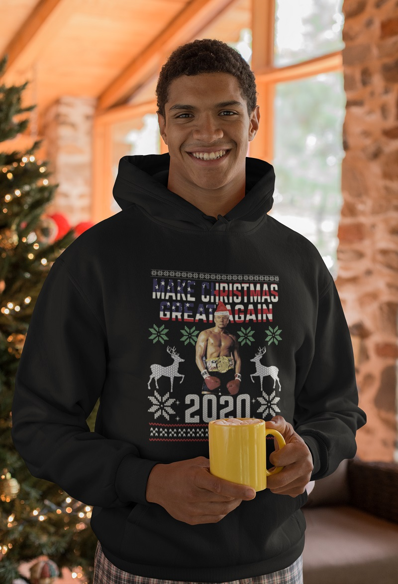 Trump boxing champion make christmas great again 2020 ugly Christmas shirt, hoodie, tank top - pdn