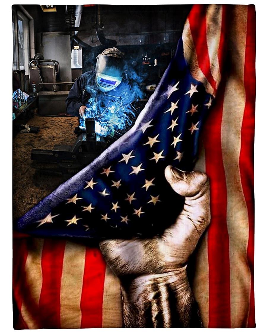 Welder American Flag blanket - mytea