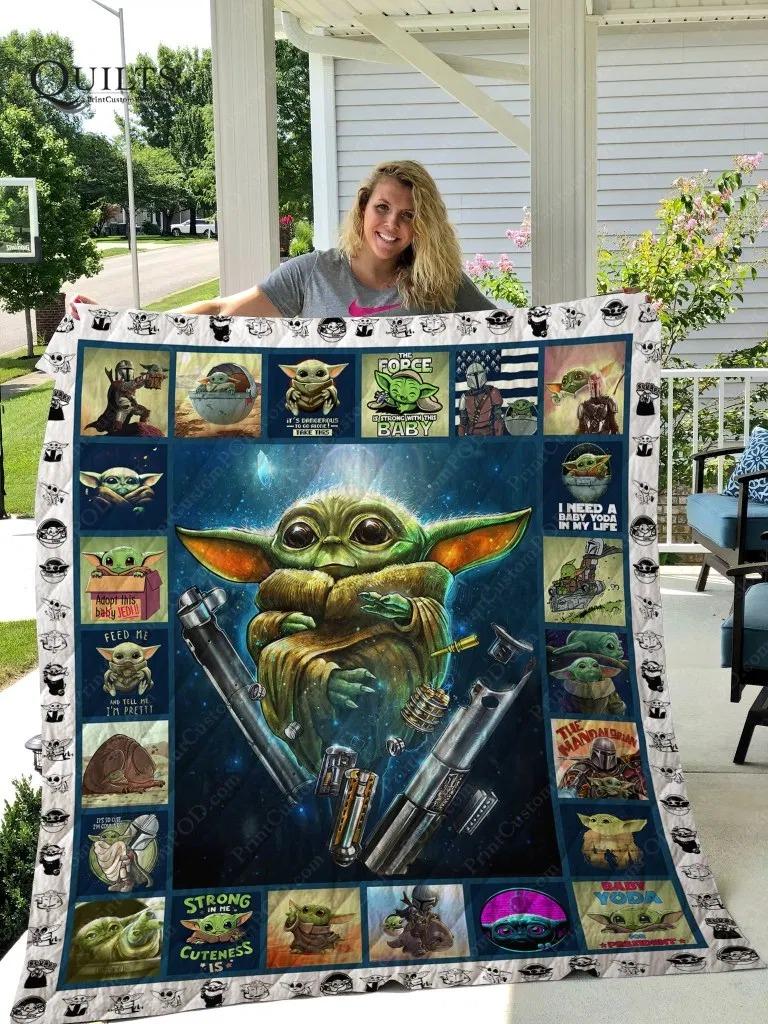 Yoda Quilt Blanket - LIMITED