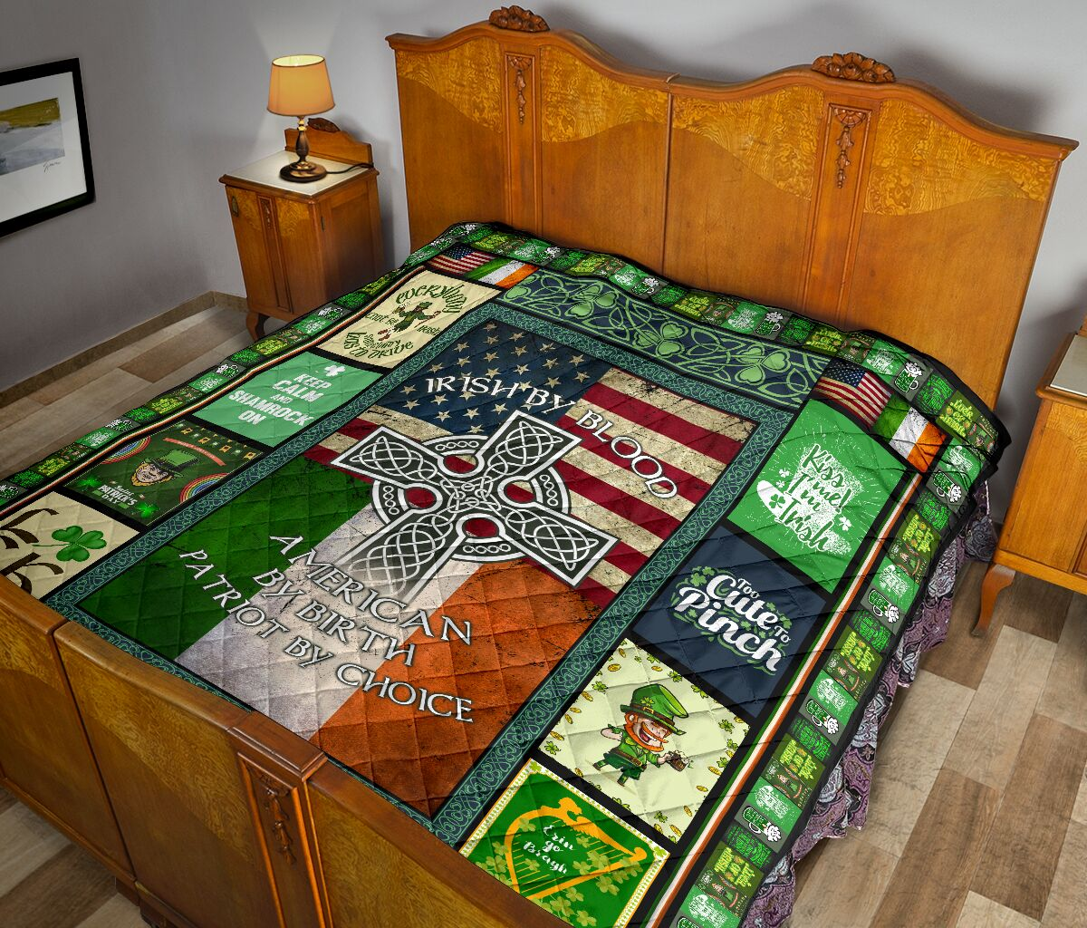 American By Birth, Patriot By Choice 3D Quilt - mytea
