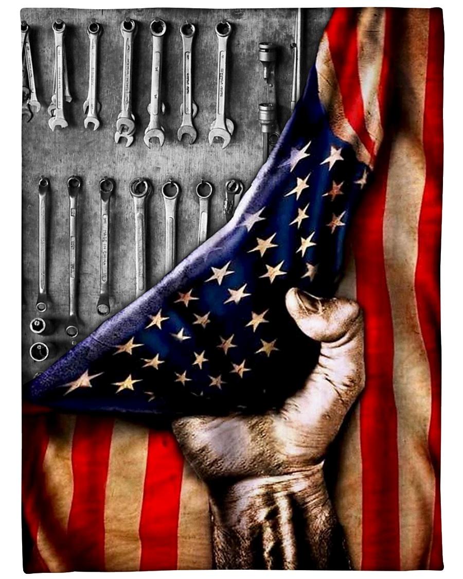 Mechanic American Flag blanket - mytea