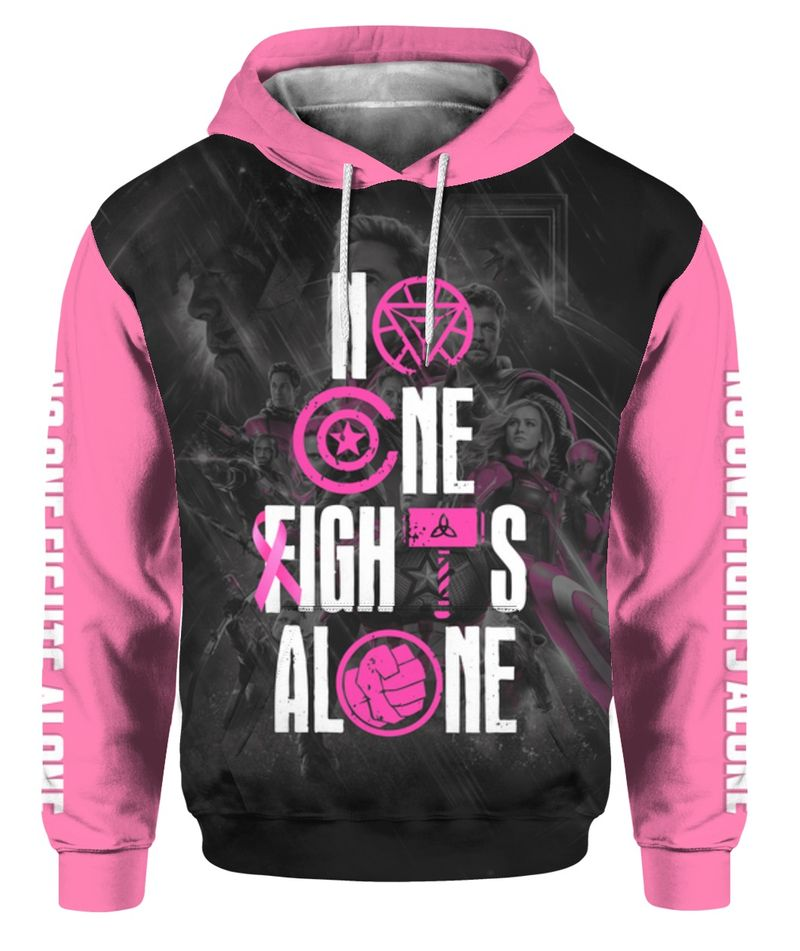 No One Fights Alone 3D All Over Printed Hoodie - mytea