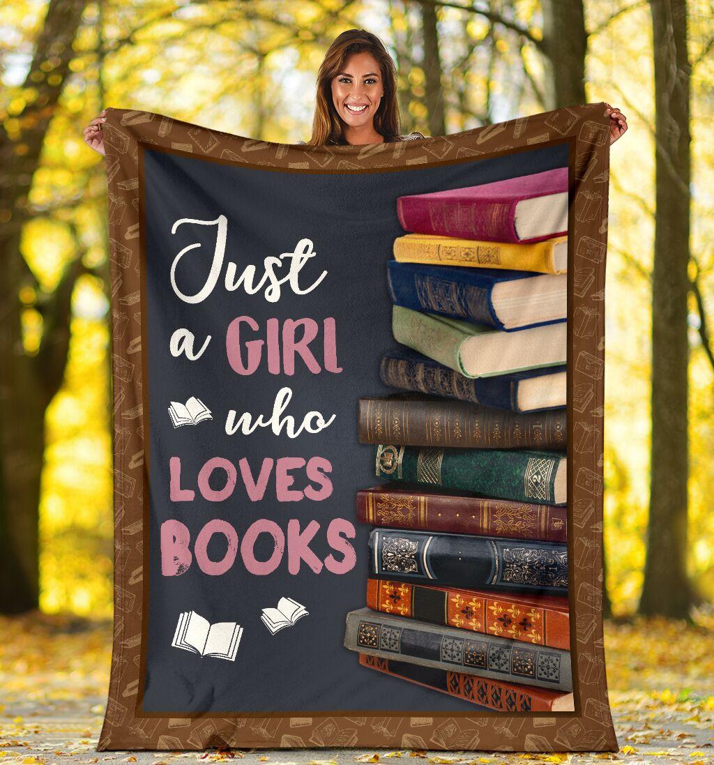 Just A Girl Who Loves Books Blanket - mytea