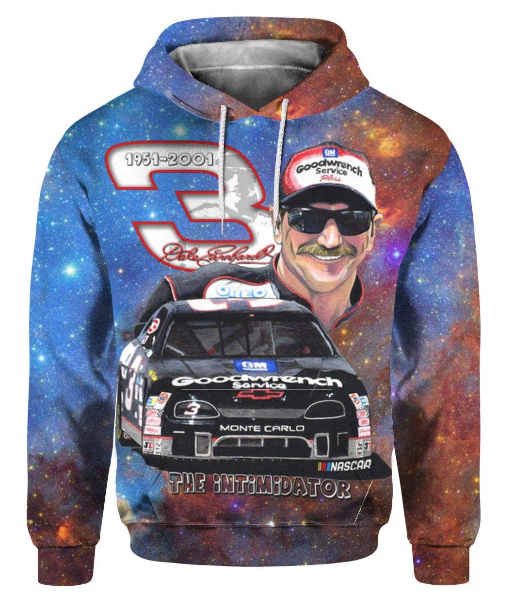Dale Earnhardt The Intimidator signature Galaxy 3d Full Over Printed hoodie - mytea