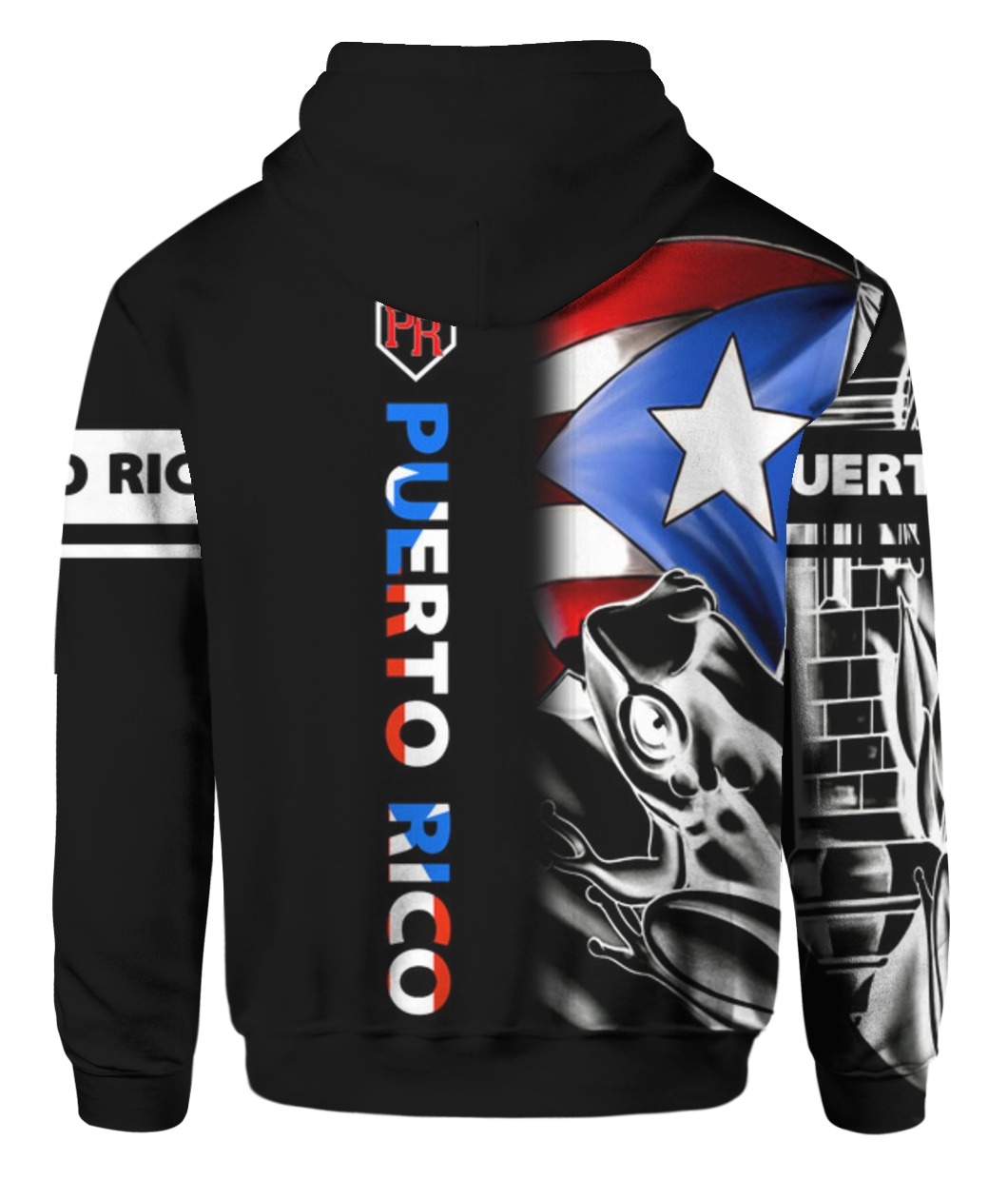 Puerto Rico Baseball Team Flag 3D All Over Printed Hoodie and Bomber - Saleoff 2512199