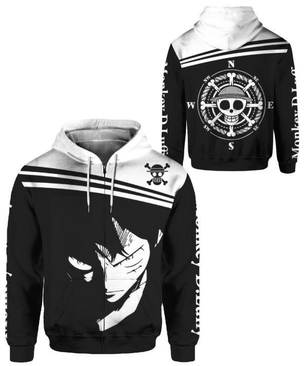 Monkey D Luffy hoodie 3d overprint - LIMITED