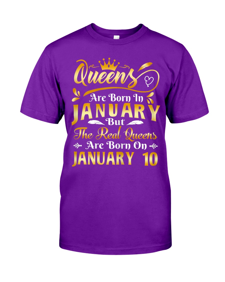 Real Queens Are Born On January 10th Birthday shirt, hoodie, tank top -tml