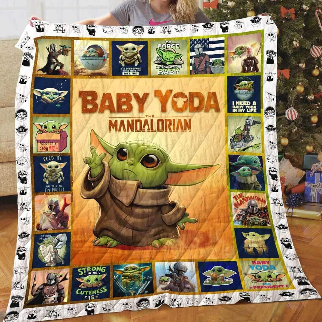 Star Wars The Mandalorian S Baby Yoda Quilt