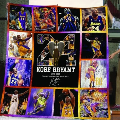 Kobe Bryant thank you for memories quilt - LIMITED