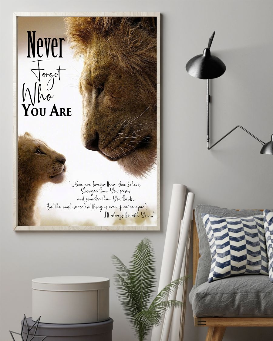 Lion king Never forget who you are posters