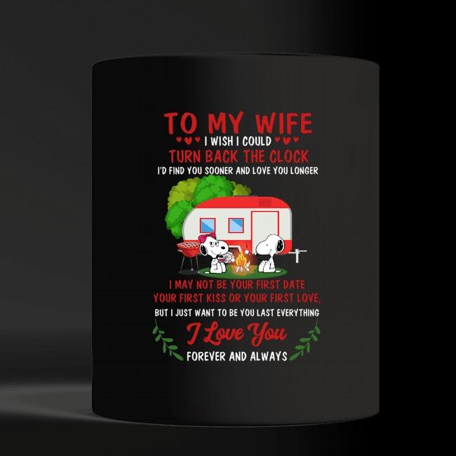 Valentine snoopy to my wife I wish I could turn back the clock mug