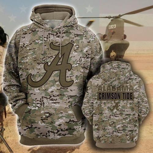 Alabama crimson tide football camo full printing shirt - maria
