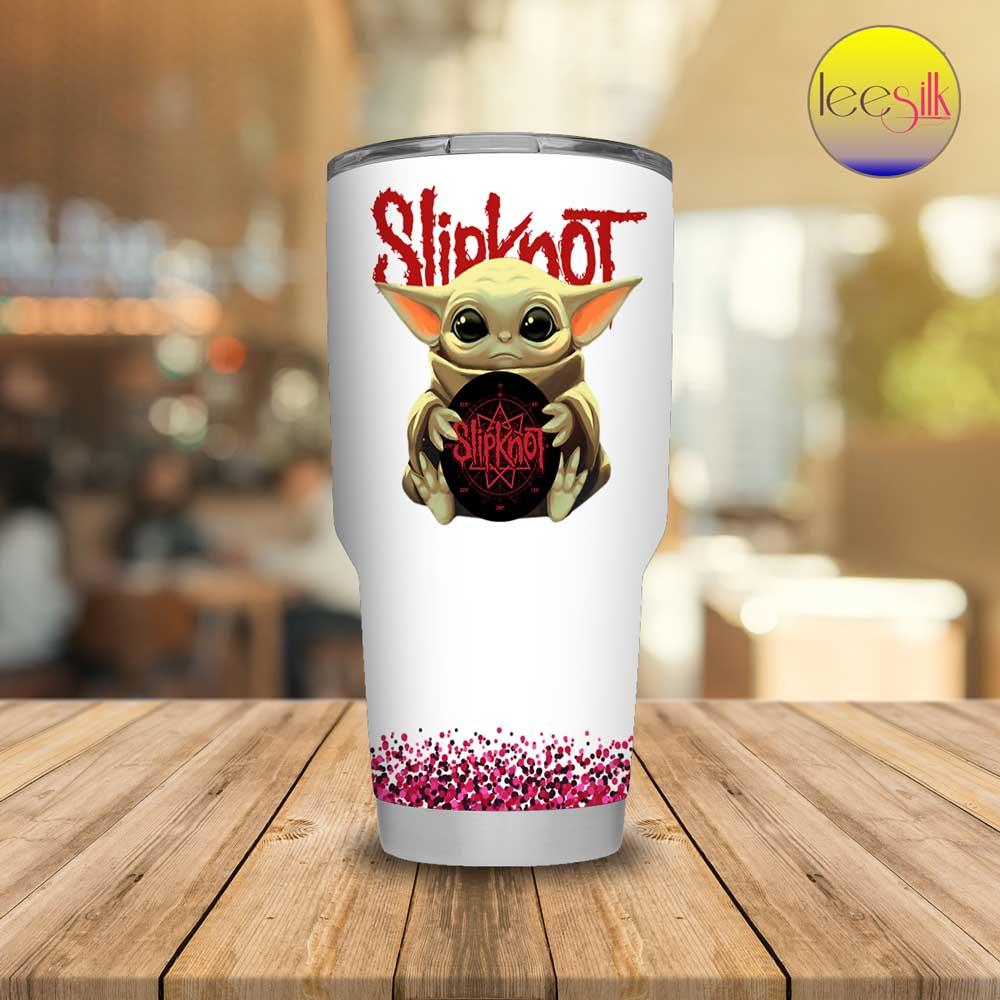Baby Yoda Hug Slipknot tumbler