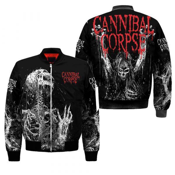 Cannibal Corpse Skull Bomber Jacket - hothot 240320