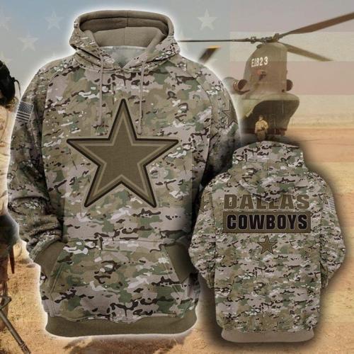 Dallas cowboys camo full printing shirt - maria