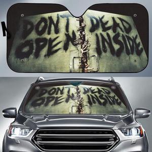 Don't open dead inside auto sun shade - maria