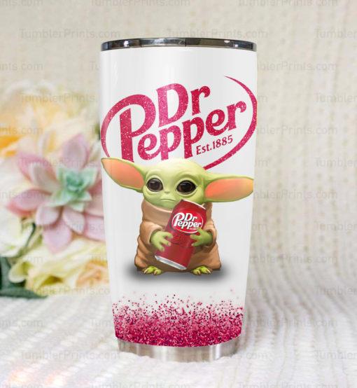 Baby Yoda Dr Pepper Tumbler - Saleoff 13032012