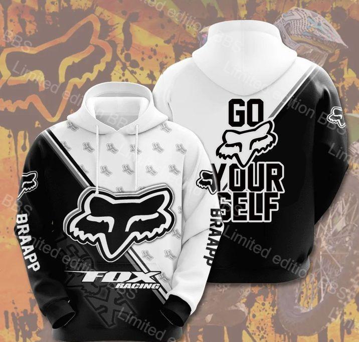 Fox racing go fox yourself 3d hoodie