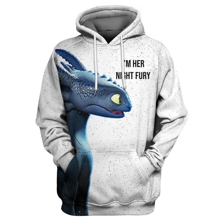 I'm His Light Fury - I'm Her Night Fure Couple 3d hoodie, shirt
