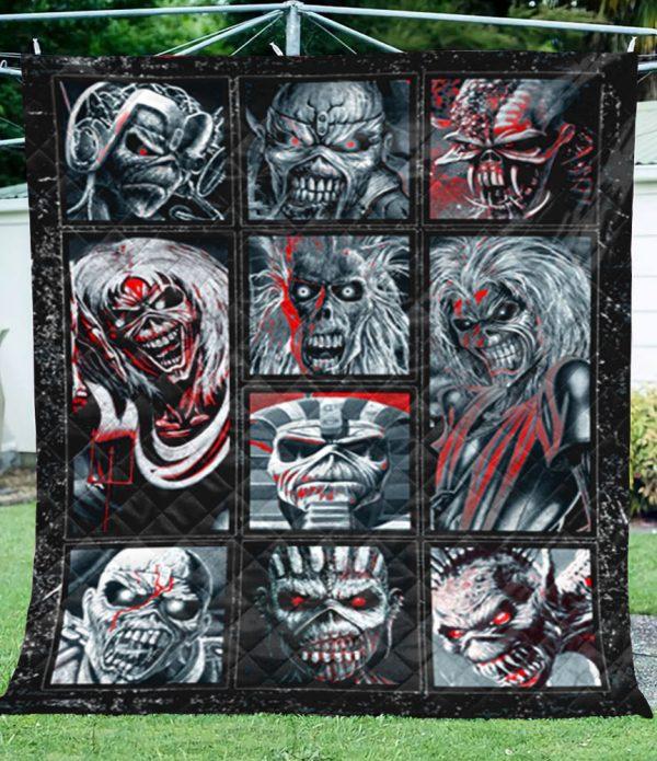 Iron Maiden Beast Quilt Blanket - hothot 250320