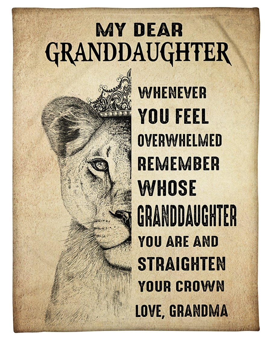Lion My Dear Granddaughter Grandma Blanket - maria