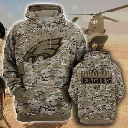 Philadelphia eagles camo full printing shirt - maria