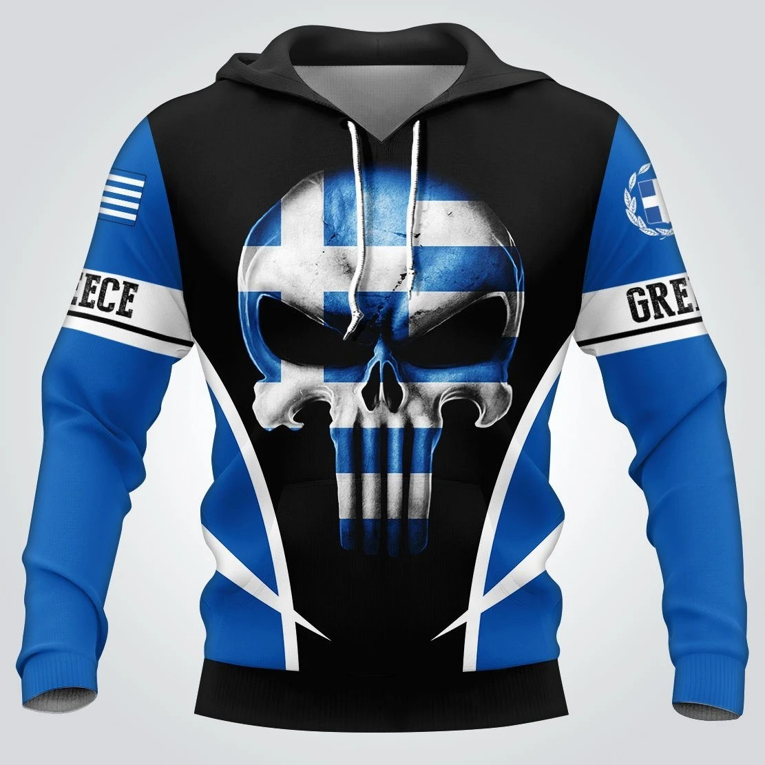 Punisher Skull Greece A Place Your Feet May Leave 3d hoodie and shirt