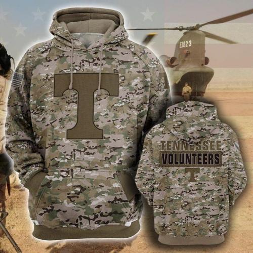Tennessee volunteers football camo full printing shirt - maria