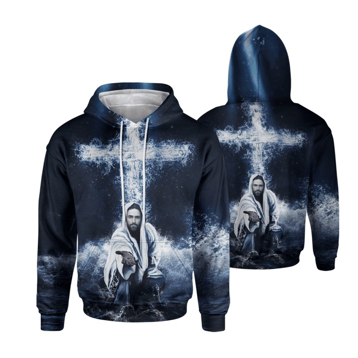 Way Maker Jesus Cross 3d hoodie and t-shirt