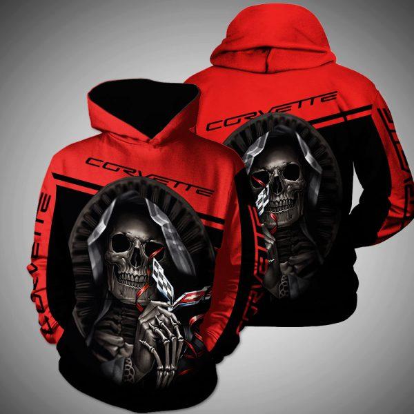 Death Skull Hug Corvette 3D shirt, hoodie - Saleoff 04032020